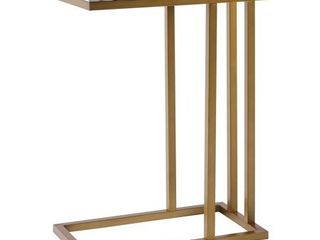 Marmo C Shape Table Faux Marble Brass   Versanora