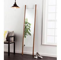 70 x 17  Swain leaning Floor Mirror Dark Tobacco   Holly  amp  Martin
