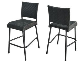 2 Doris Outdoor Wicker Barstool