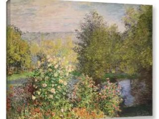 Bridgeman Claude Monets A Corner of the Garden at Montgeron  1876  Gallery Wrapped Canvas 48  x 37