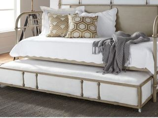 Trundle Portion Only  Carbon loft Cauthen Vintage Series Vintage Cream Twin Metal Trundle   Retail 273 99