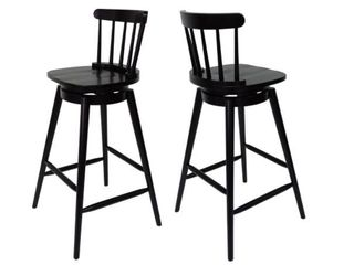 Ahart Farmhouse Spindle Back 30  Barstool by Christopher Knight  Set of 2