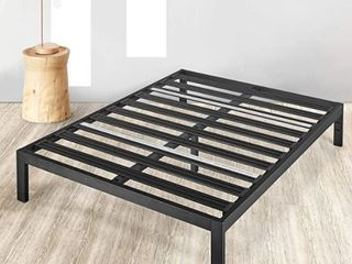 Rocky Base C  14  Full Platform Bed Heavy Duty Steel Black  No Box Spring Needed