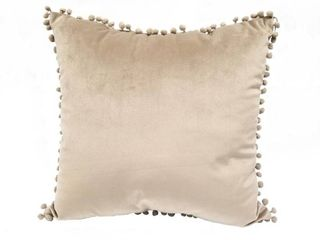 Pom Pom Velvet Throw Pillow
