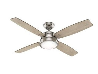 Hunter 52  Wingate Brushed Nickel Ceiling Fan with light Kit and Remote