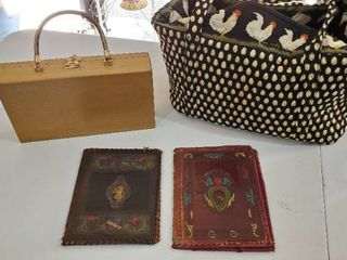 Chicken Purse  Antique leather Book Covers