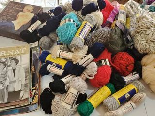 large lot Of Yarn  Vintage Yarn Books