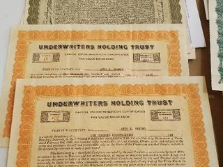 Antique Certificates