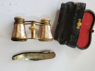 Antique Binnoculars and Knife