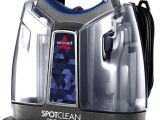 BISSEll SpotClean ProHeat Portable Spot and Stain Carpet Cleaner  2694  Blue as  is powers on