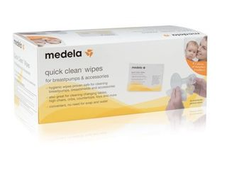 Medela Quick Clean Breast Pump and Accessories Wipes   40 count