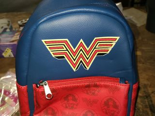 leather wonder women small backpack