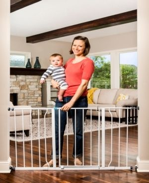 Regalo Extra Wide Easy Open Metal Walk Through Baby Gate