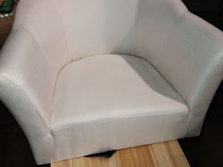 Cream Accentv Chair with legs and hardware