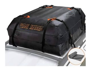 SANHIMA Roof Cargo Carrier Bag    15 Cubic Feet  Heavy Duty Roof Bag with Anti Slip Mat  Waterproof Excellent Quality Rooftop Cargo Box for All Vehicle with Without Rack