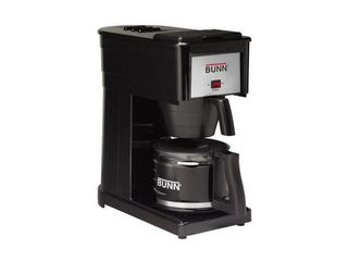 BUNN Velocity Brew 10 Cup Coffee Brewer   Black GR B   appears used powers on