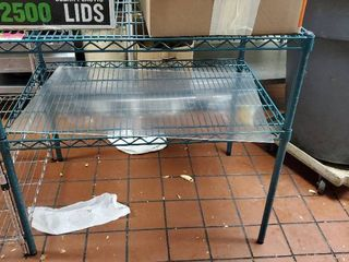 3ft x 2ft Green Rack  No Contents