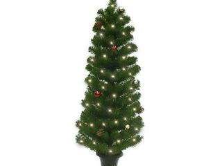 Celebrations Home 4 Ft. Potted Douglas Fir Prelit 35 Clear Light Artificial Tree