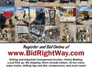 Drilling & Industrial Equipment Online Auction Casper WY Ends 12/11/20