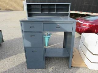 Gray Metal 39 w Shipping Desk
