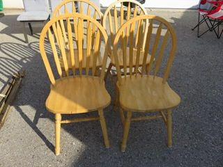 4  Maple Hoop Back Dining Chairs
