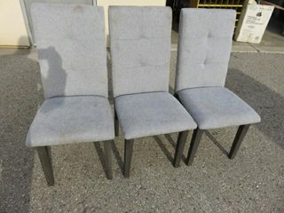 3  Gray Dining Chairs