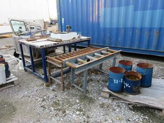 Roller Conveyor  Bench and Assorted Metal