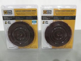 2  Worksharp Surface Conditioning Wheels