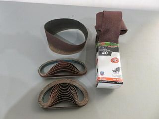 lot of Asst  Belt Sandpaper