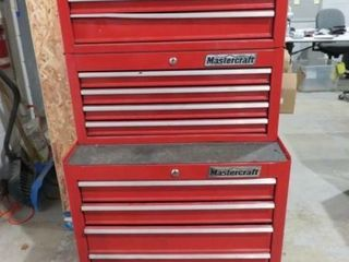 Mastercraft Mechanics Toolbox with Dual Uppers