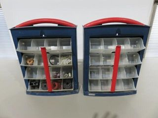 2  Mastercraft Parts Bins with Contents