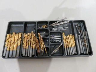 Tray of Assorted Drill Bits