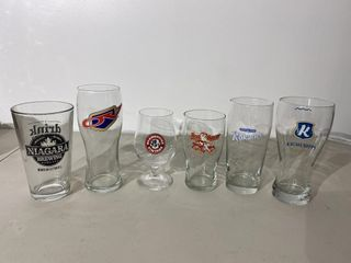 Craft Beer Glasses x 6