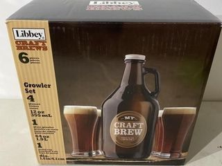 6 Piece Beer Growler and Glass Set