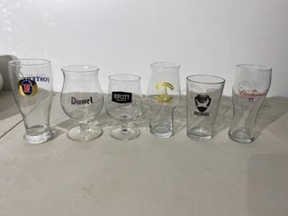 Beer Glass Collection x 6