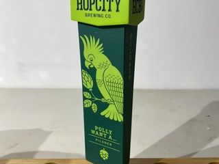 Hop City Polly Want a Pilsner Tap Handle