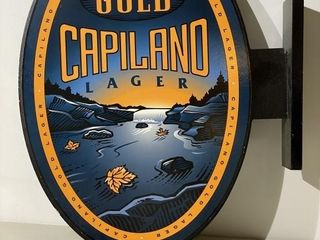 Gold Capiland lager Wall Sign