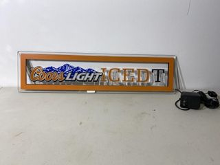 Coors light Iced T light Up Sign