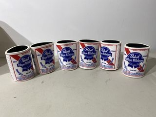 Pabst Blue Ribbon Beer Coozies x 6