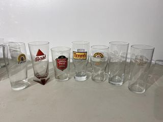 English Beer Glasses x 7