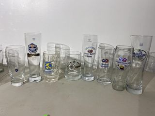 German Beer Glass Collection x 8