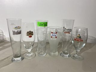 European Beer Glass Collection x 6