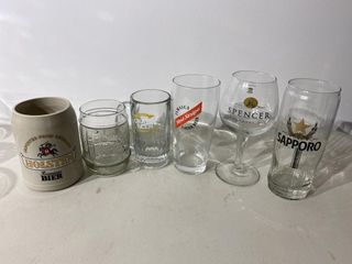 Mixed Beer Glass Collection x 6