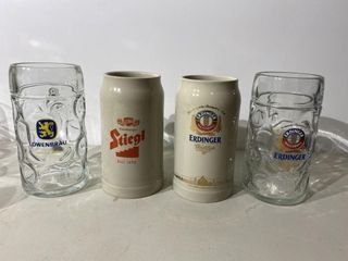 German Beer Stein Collection x 4