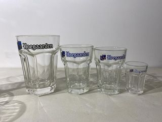 Really Cool Hoegaarden Beer Glass Set   4 Sizes