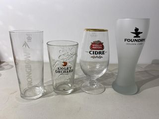 Cider Glass Collection x 4