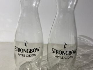 Two Strongbow Decanters