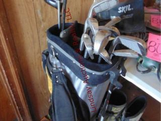 Set of Golf clubs   bag  various diff brands