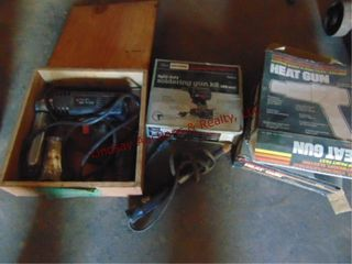 3 heat guns  soldering gun kit   other