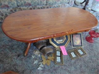 Wood coffee table 54 x 23 x 17
